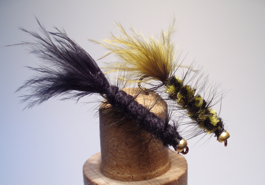 Black and Olive Wooly Buggers